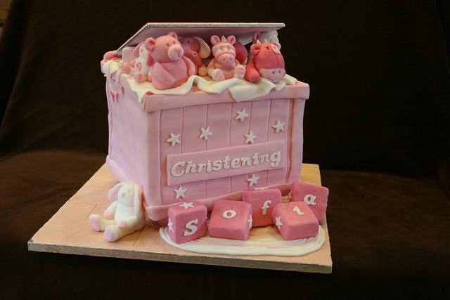 Sponge Christening Cake