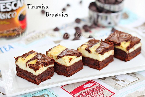Tiramisu Brownies @RoxanaGreenGirl | A little bit of everything | by RoxanaGreenGirl | Roxana's Home Baking