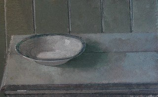 "Still Life with Bowl 3x5"" Acrylic on Wood 