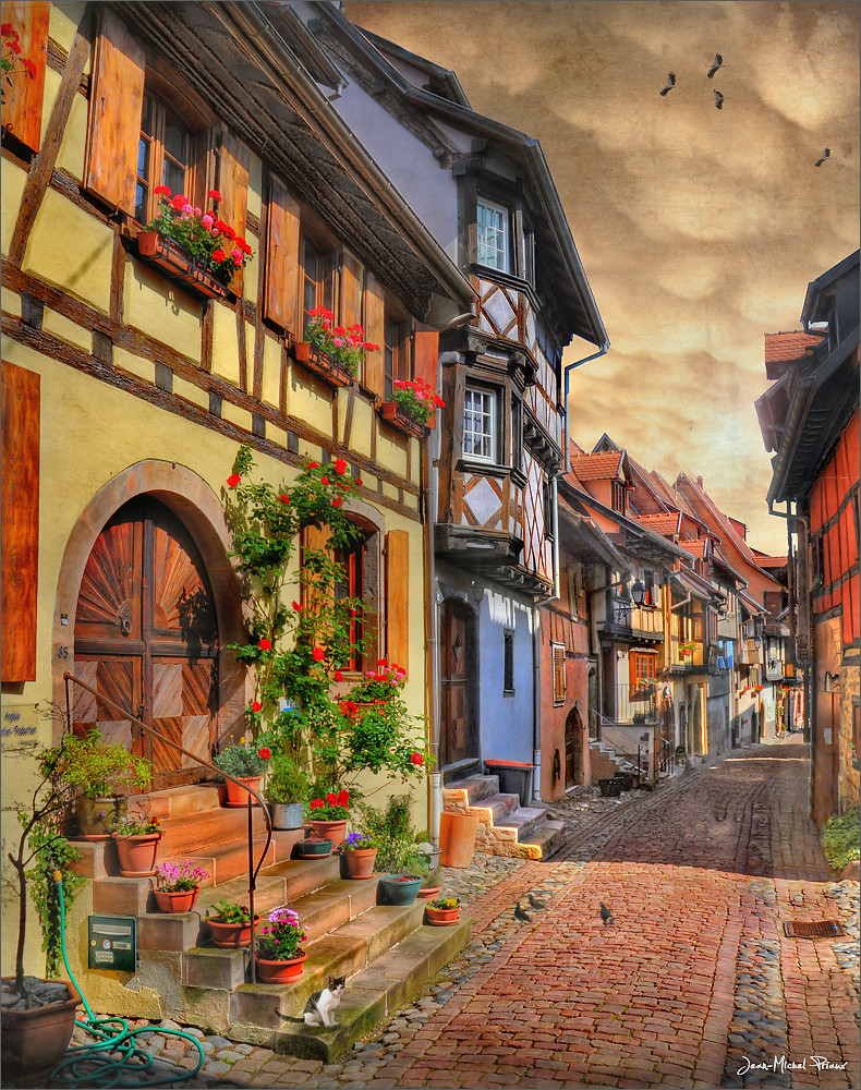 The hose le tuyau eguisheim alsace france jean Colmar beauty and the beast