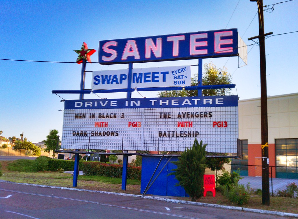 a night at the santee drivein theatre going to see aveng