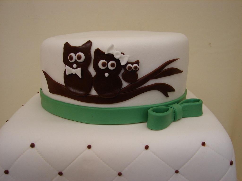 Owl Family Baby Shower Cake Owl Family Baby Shower Cake