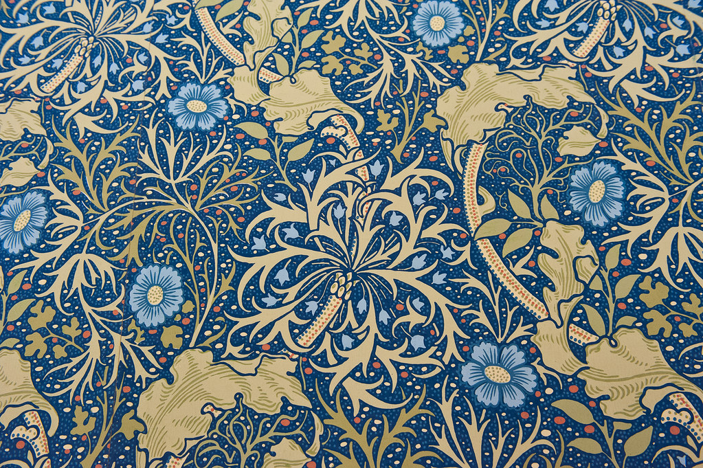 william morris wallpaper one of a series of photos taken