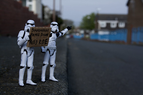 Stormtrooper Antics - Day 28: Hitchhiking | by AlexVanDort