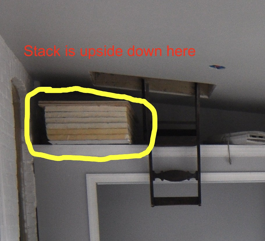 Attic Hatch Insulation First Idea Of Using Sheets Of 2