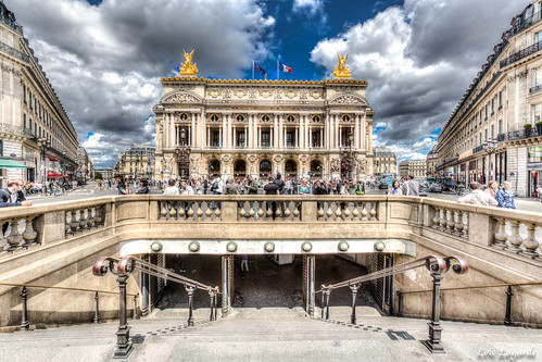 Opera Garnier from the metro station exit. | by Loïc Lagarde