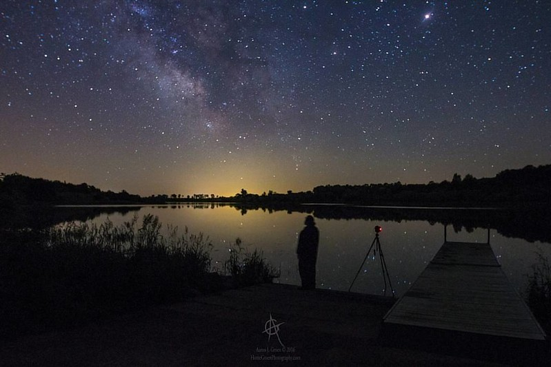 """Contemplation"" by Aaron Groen     @HomeGroenPhotography Me standing by the Lake running a time-lapse sequence on the main camera (Canon EOS 6D body and Rokinon 14mm f2.8 lens). Taken at Lake Lakota, June  2 2016 1:43 am. This photo was shot with my old C"