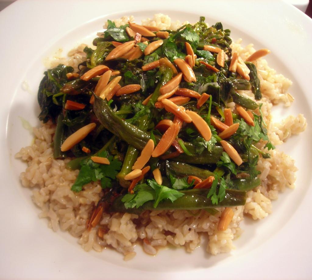 Green bean and kale bihari masala, basmati brown rice | Flickr