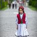 Happy Pamiri girl in traditional dress