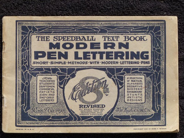 Sign Lettering Books Speedball Textbook 8th Edition