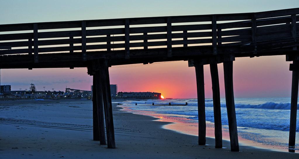 Ocean city fishing pier sunrise in ocean city new for Ocean city fishing report