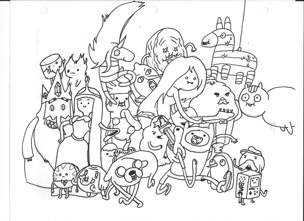 adventure time coloring pages gunter wwwimgkidcom sketch coloring page