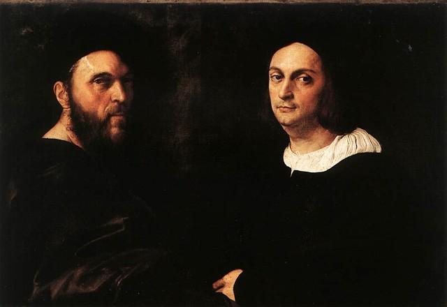 Raphael, Double Portrait , 1516, oil on canvas, 77 x 111 cm (Galleria Doria Pamphilj, Rome)