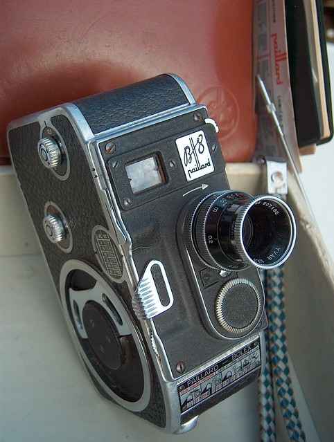 paillard bolex switzerland b8 1953 double 8mm film movie camera with yvar 1 8 13mm kern. Black Bedroom Furniture Sets. Home Design Ideas
