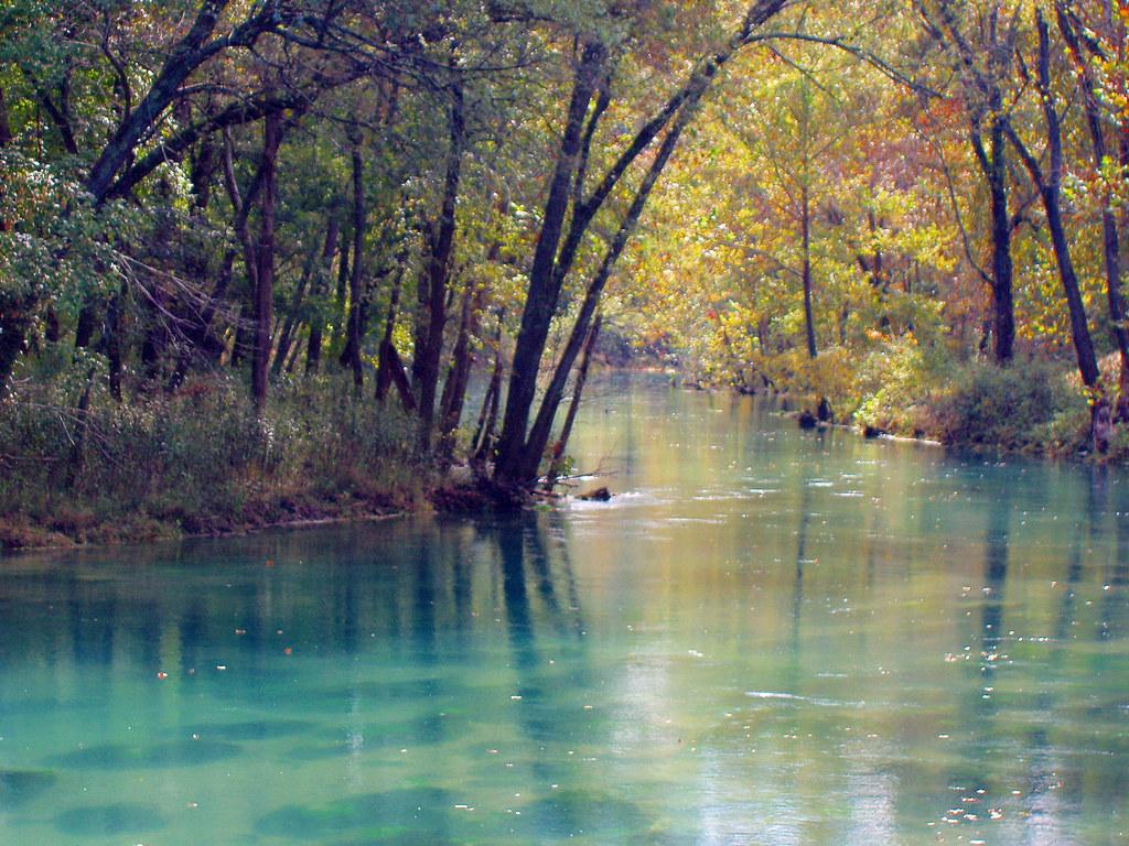 Fall At The Spring Big Springs Near Van Buren Mo