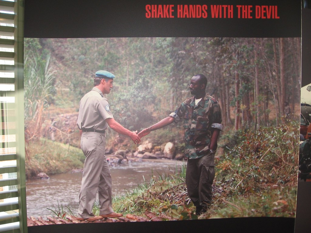shake hands with the devil essay Melancholic more than moving, reflective rather than impassioned, shake hands with the devil is the dramatic telling of lieutenant-general roméo dallaire's personal trauma while witnessing the .