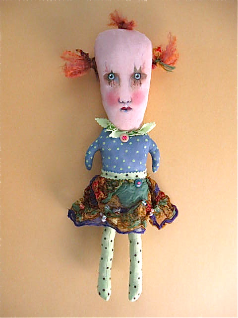 creepy girl clown doll | hand made hand painted | Flickr Creepy Pictures
