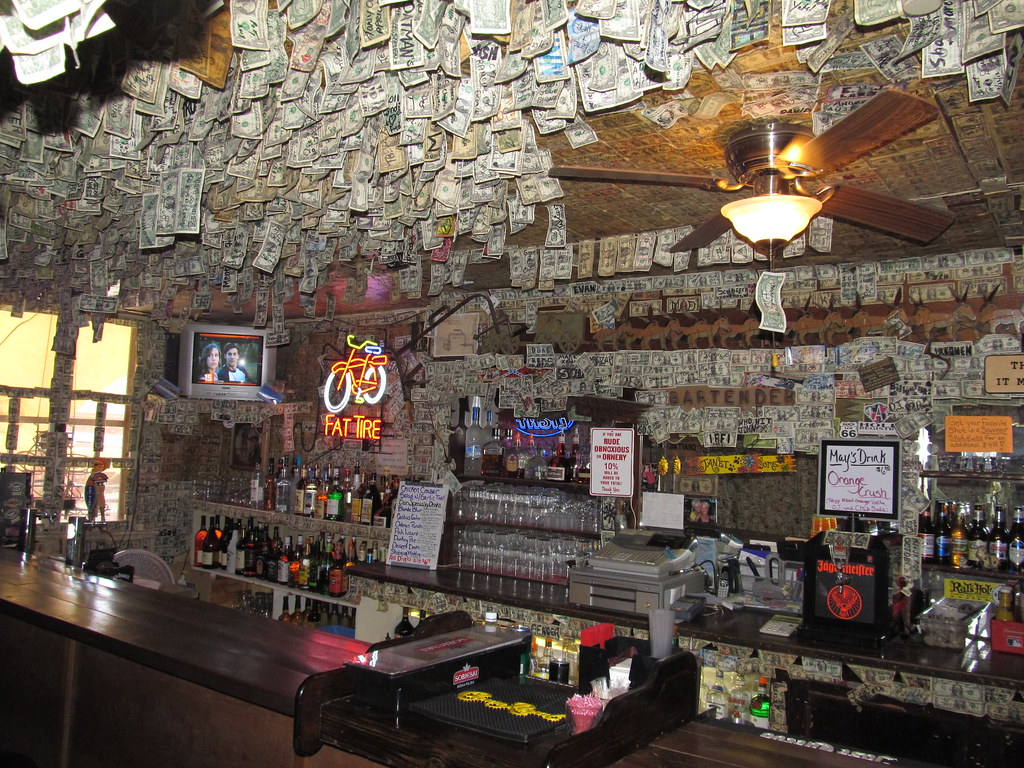 Famous Dollar Bill Wallpaper, Oatman Hotel, Oatman, Arizon