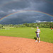Double Rainbow Over Softball Practice
