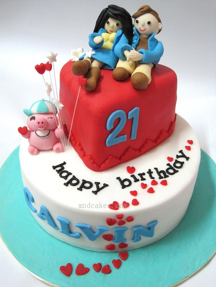 Birthday Cake Images With Love : 21st Birthday Love Themed Cake 5