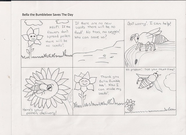 bee pollination cartoon flickr photo sharing. Black Bedroom Furniture Sets. Home Design Ideas