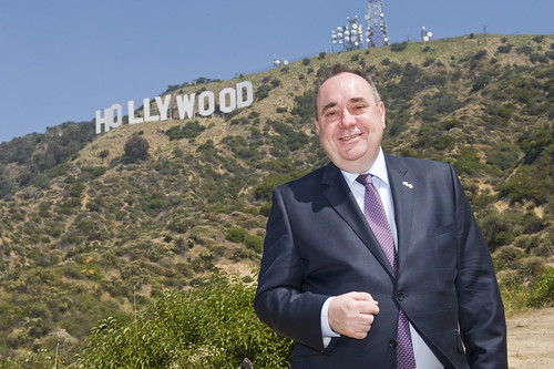 First Minister Alex Salmond at the Hollywood sign | by Scottish Government