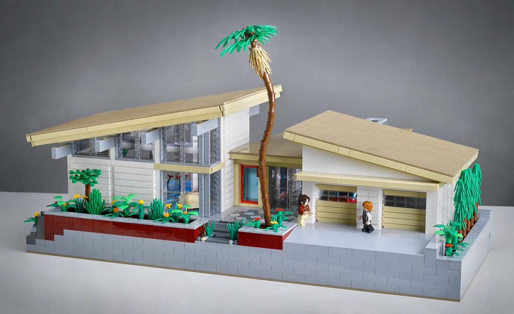 Villa Hillcrest Front View Entry For Lego Modern Home