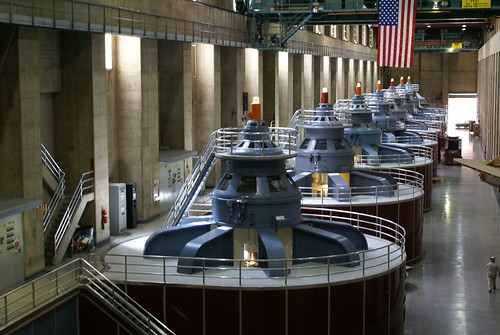 Generators inside the Hoover Dam | by L. Richard Martin, Jr.