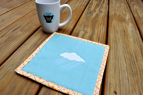Rain Cloud Mug Rug | by j_q_adams