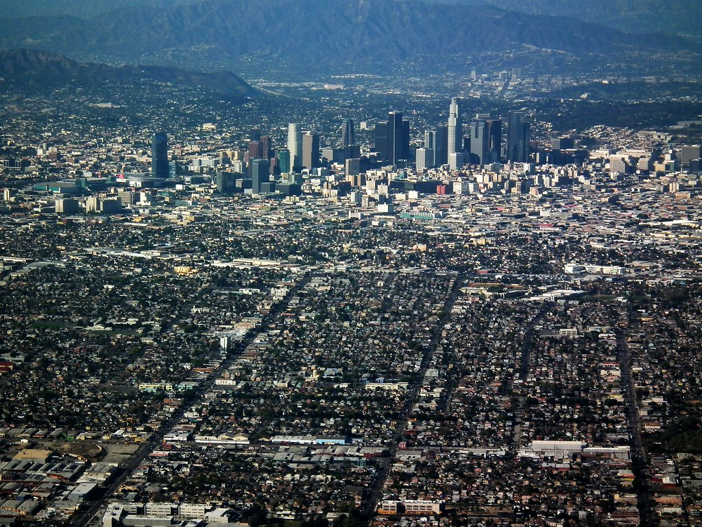 Los Angeles Downtown La Aerial Picture A Beautiful View