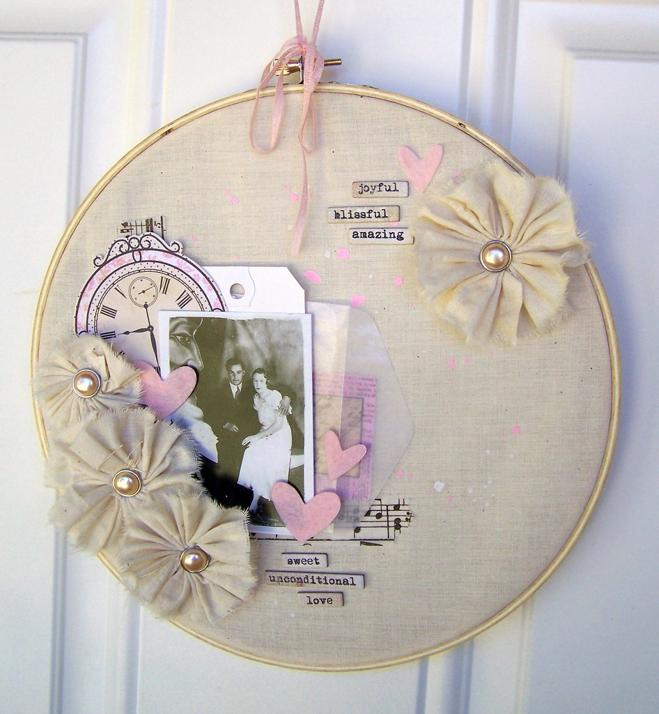 Displayed In This Embroidery Hoop Is A Fantastic: My Great-grandparents :).