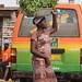Kumasi scenes: orange and green composition