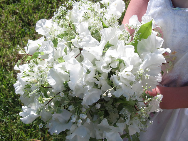 Sweet Peas And Lily Of The Valley Bouquet