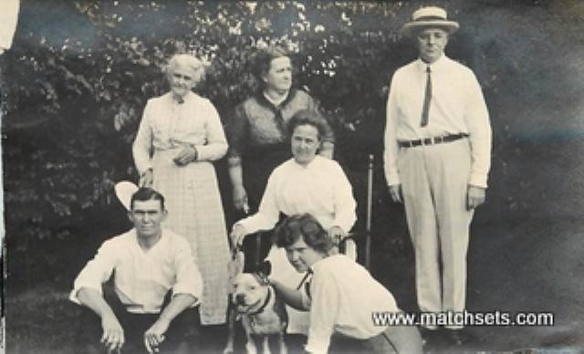 1920s Family With Pit Bull Nice Family Shot With Their