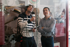 Colin Murray interviewing Chris Boardman