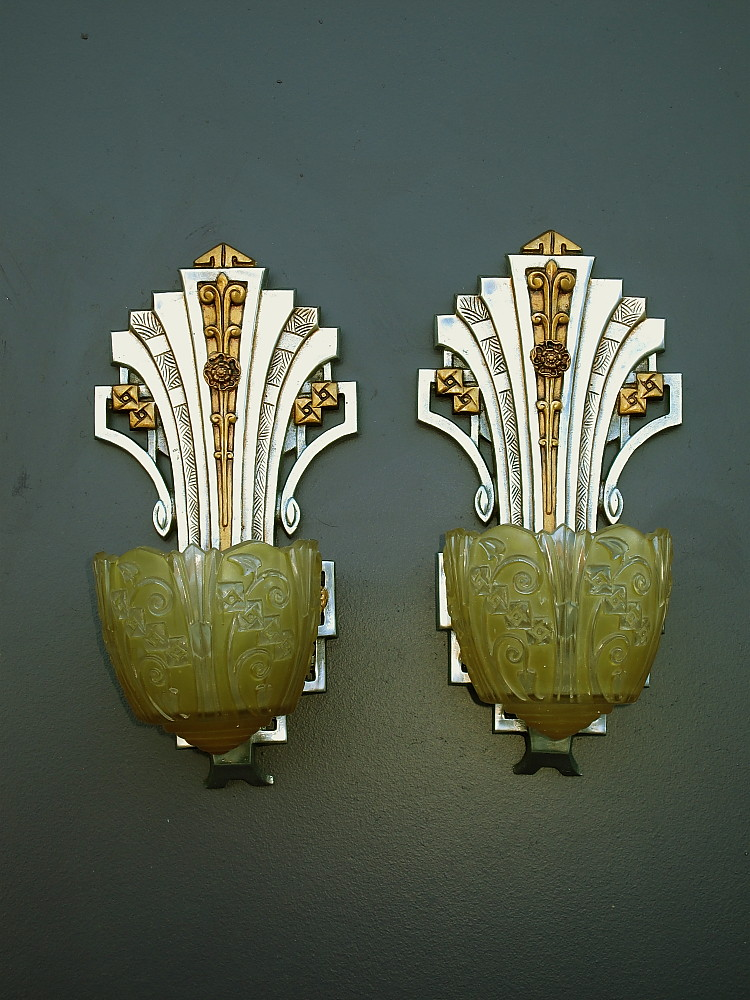 Art Deco Slip Shade Sconces Vintagelights Com Another