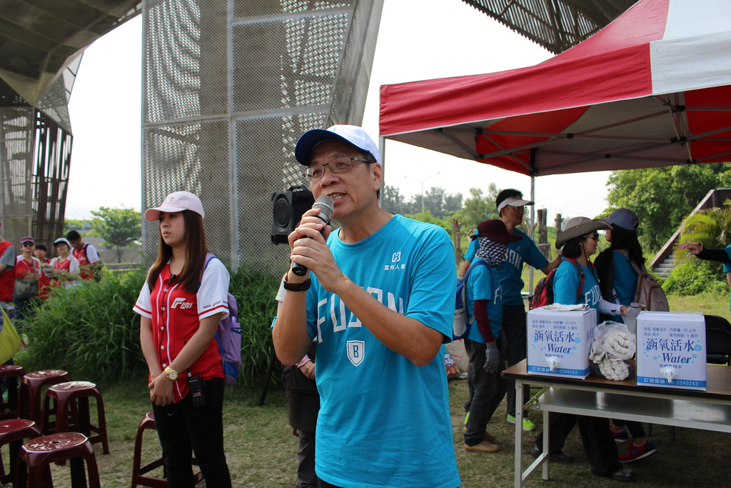 富邦人壽總經理陳俊伴鼓勵員工,把愛護環境的概念推廣出去。攝影:瞿涵。