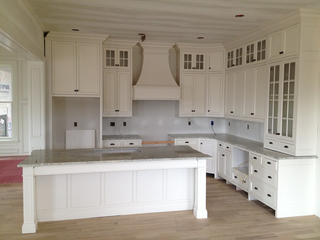 granite has been installed to this white kitchen with inse flickr - White Inset Kitchen Cabinets