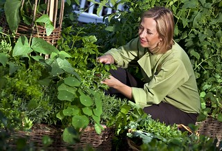 Chef Julie in garden | by thepalmshotel