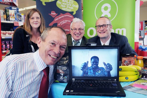 Food store on Skype call to Fair Trade coffee farmer in Uganda | by The Co-operative