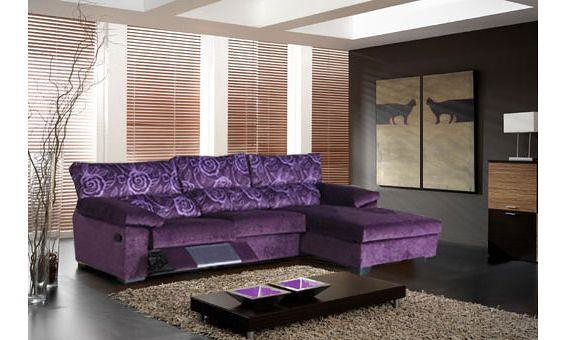 Sofas de tres plazas con chaise longue derecha con una pl for Sofa tres plazas chaise longue