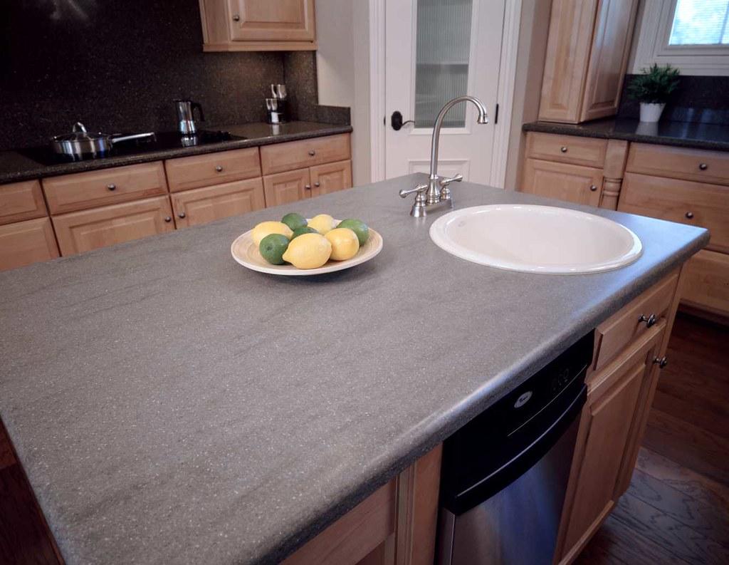 Dupont corian in natural gray natural gray is one of for Corian countertop price