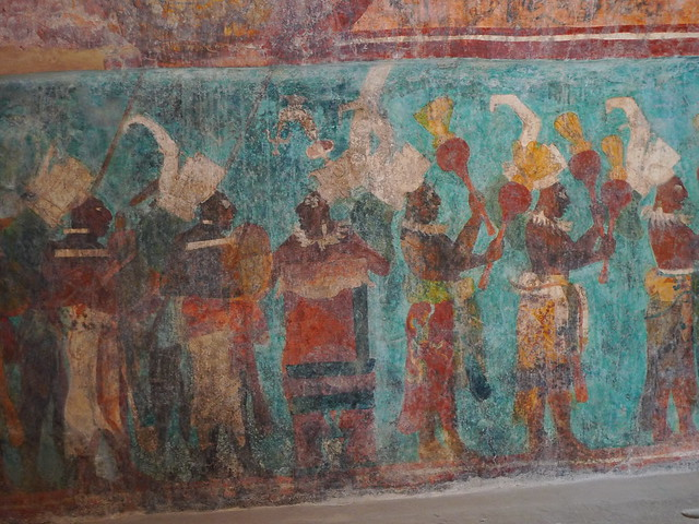 The murals at bonampak explore pov steve 39 s photos on fli for Bonampak mural painting