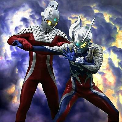 SEVEN & ZERO   New pic Ultra Seven & Ultraman Zero (Father ...