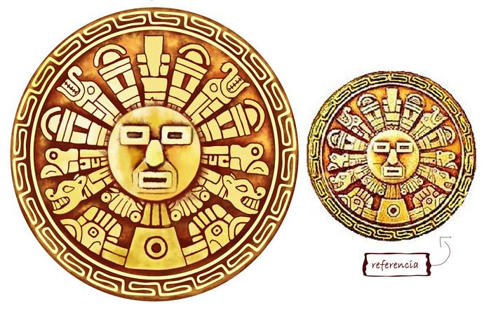 Sol Incaico | Ilustración Digital de pieza Inca. Realizada