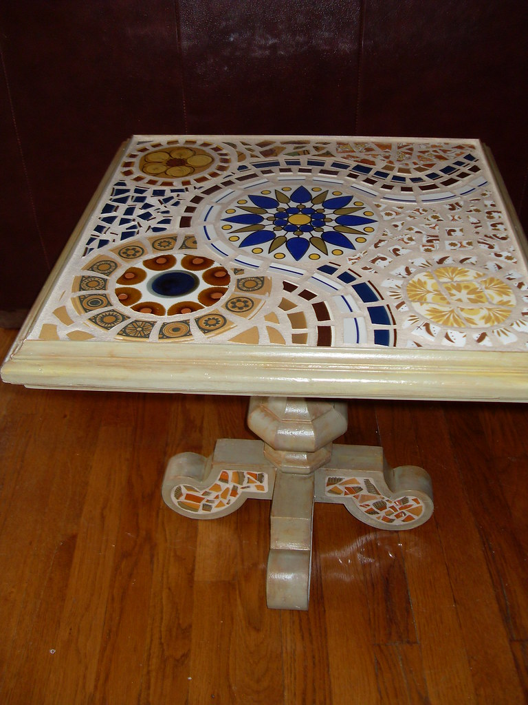 Square Mosaic Table Retro Plates This Table Now Lives