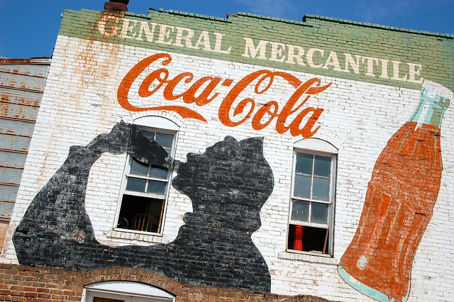 General mercantile 39 s coca cola wall mural ad flickr for Coca cola wall mural