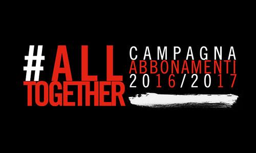 #AllTogether: da oggi abbonamenti disponibili per tutti