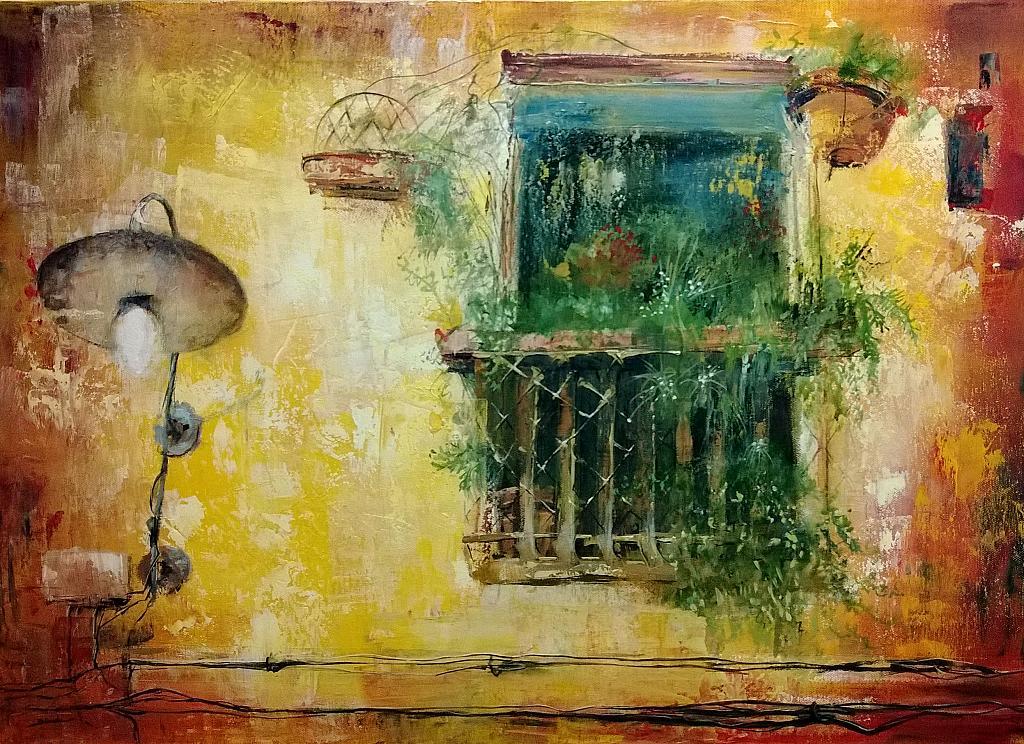 La finestra sul mondo opera di mery blindu acrilico 50x70 flickr - Finestra sul mondo ...