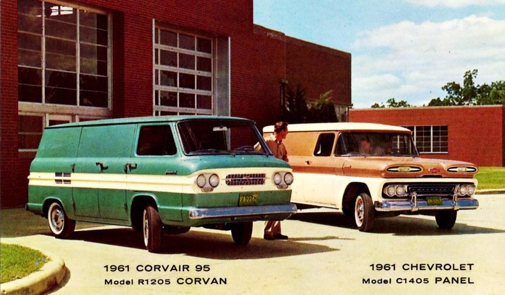1961 Chevrolet Panel Truck Amp Corvair 95 Corvan Alden